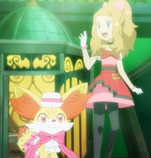 Serena and Fennekin