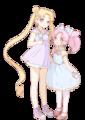 Serena and chibi Rini
