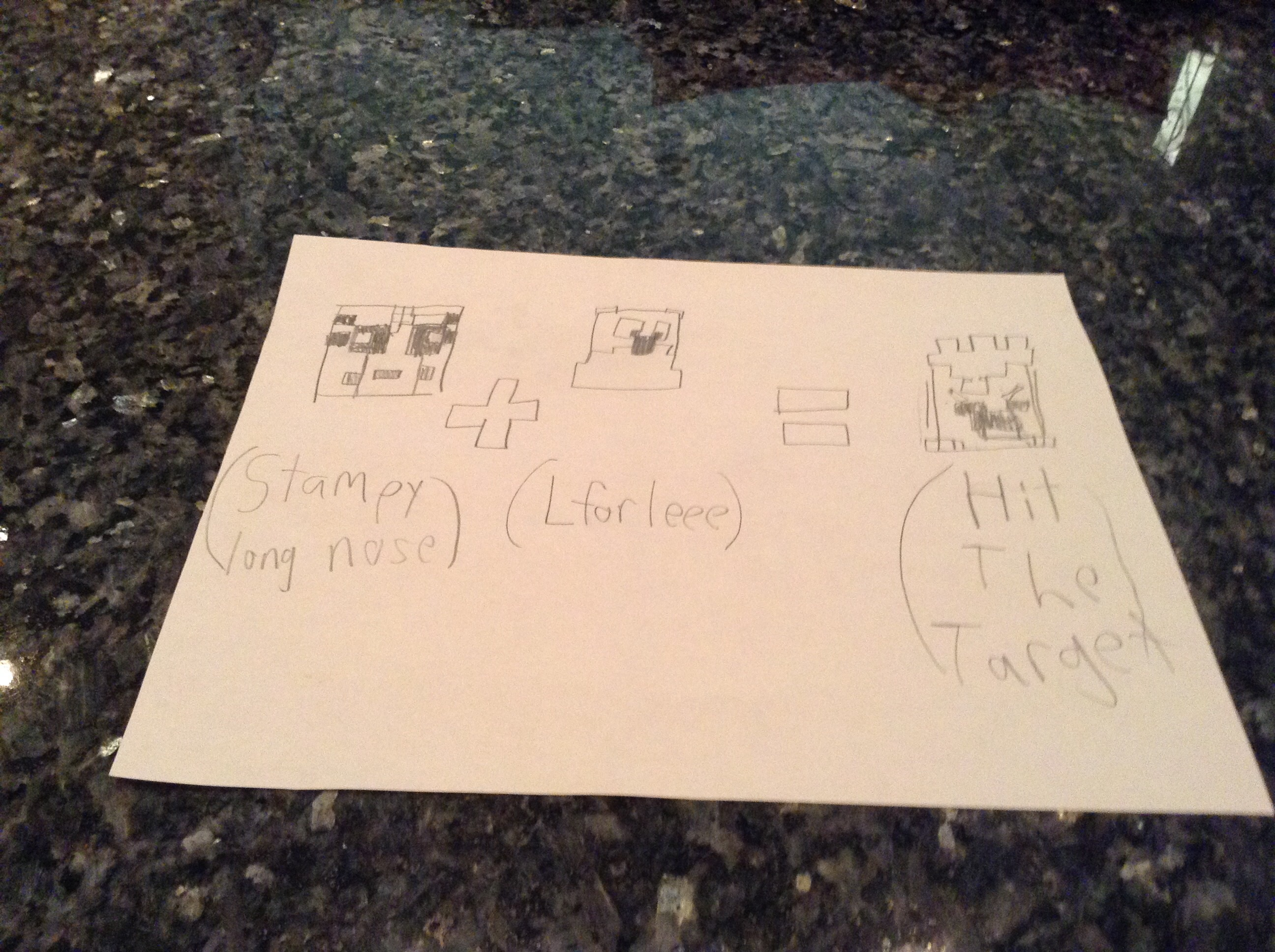 Stampy Lee= Hit the target, Von G. Awesomeness