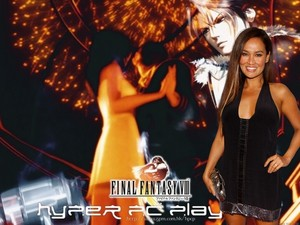 TIA CARRERE AND FAKE FANS SQUALL LEONHART