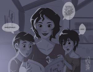 Tadashi, Aunt Cass and Hiro