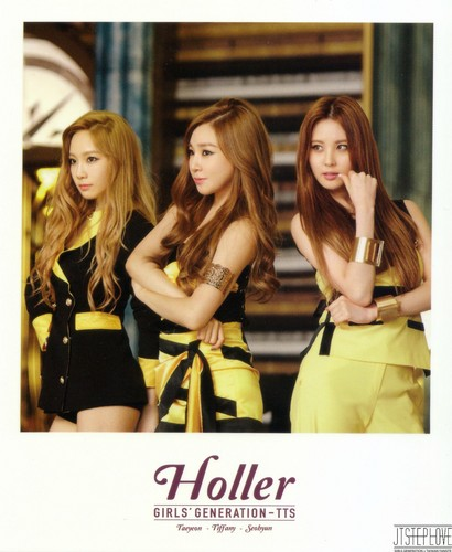 taeyeon (snsd) wallpaper containing a portrait called TaeTiSeo Taeyeon- Holler Polaroids