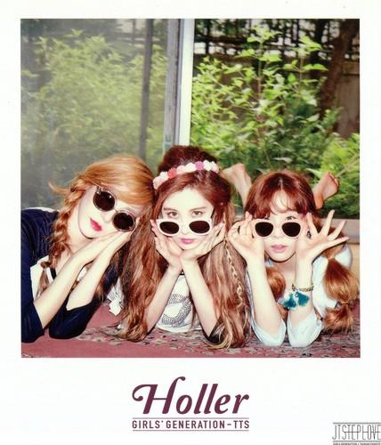 taeyeon (snsd) wallpaper containing sunglasses entitled TaeTiSeo Taeyeon- Holler Polaroids