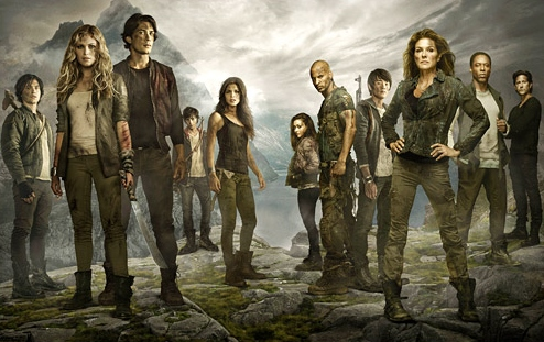 The 100 wallpaper probably with a fonte called The 100 (TV Show)