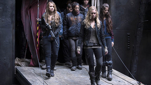 The 100 wallpaper probably with a sign, a hip boot, and a rua titled The 100 (TV Show)