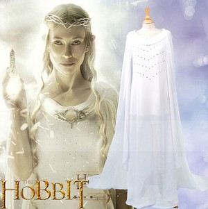 The Lord of the Rings Royal Elf Galadriel cosplay Costume