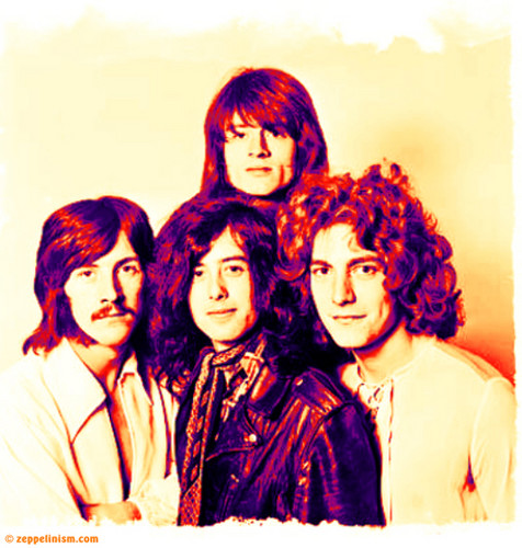 Led Zeppelin wallpaper possibly with a portrait called The other fab four