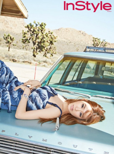 Tiffany Hwang wallpaper possibly with a beach wagon and an automobile entitled Tiffany - InStyle Magazine