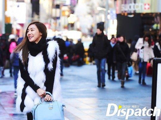 Tiffany strolling in New York