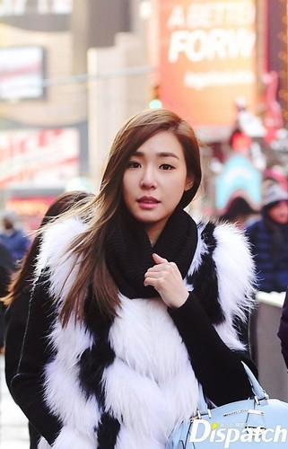 Tiffany Hwang fondo de pantalla containing a pelaje, piel capa entitled Tiffany strolling in New York