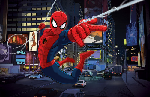 Spider-Man wallpaper possibly containing animê titled Ultimate Spider-Man