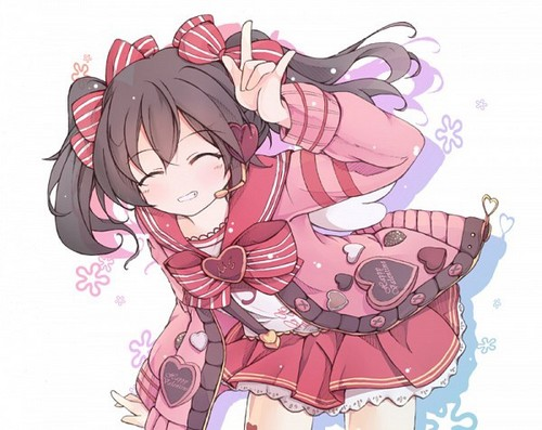 love live school idol project wallpaper containing anime called valentine nico