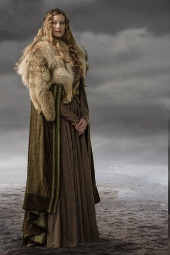 Vikings (Siri TV) kertas dinding containing a bulu kot titled Vikings Aslaug Season 3 Official Picture
