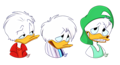 Walt Disney Fan Art - Huey Duck, Dewey Duck & Louie Duck