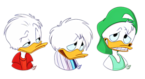 Walt ডিজনি অনুরাগী Art - Huey Duck, Dewey হাঁস & Louie হাঁস