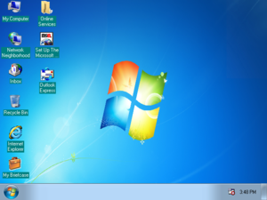 Windows 95 as Windows 7 1