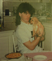 Young Jagr and dog