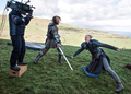 Sandor Clegane & Brienne of Tarth - Behind the Scenes - game-of-thrones photo
