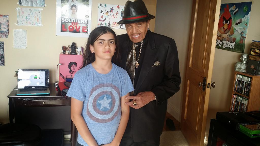 blanket jackson with his grandfather joe jackson high res 2015