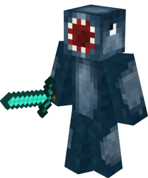 iBallisticSquid Skin Holding Diamond Sword