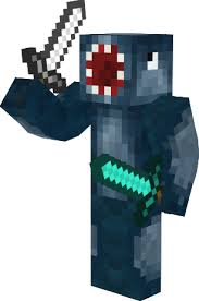 iBallisticSquid Skin Holding Two Swords