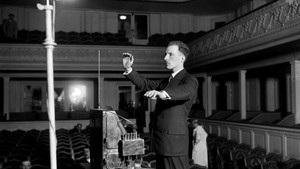 inventor with Theremin