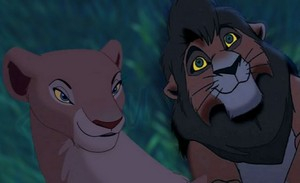 kovu and nala looking at the stars