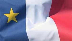 le drapeau de l'acadie (the flag of acadia)