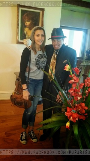 paris jackson with her grandfather joe jackson 2015 high res