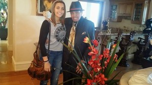 paris jackson with her grandfather joe jackson 2015