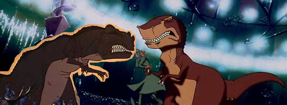 The Land Before Time crossover: Sharptooth VS Rex - The Land