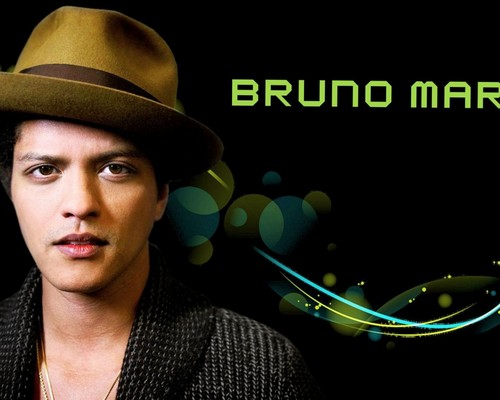 Bruno Mars fond d'écran with a fedora entitled Bruno Mars
