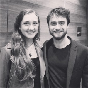 (Exclusive) Daniel Radcliffe With a fan (Fb.com/DanielJacobRadcliffefanClub)