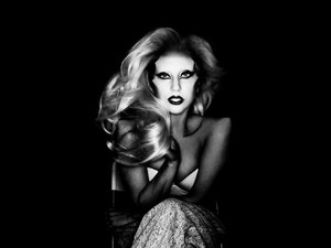 NEW outtakes of Lady Gaga oleh Nick Knight from the Born This Way photo-shoot