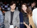 Sandara Park and her brother Sanghyun attend the 2015 Seoul Fashion Week