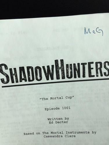 Shadowhunters TV ipakita wolpeyper entitled 'Shadowhunters' pre-production