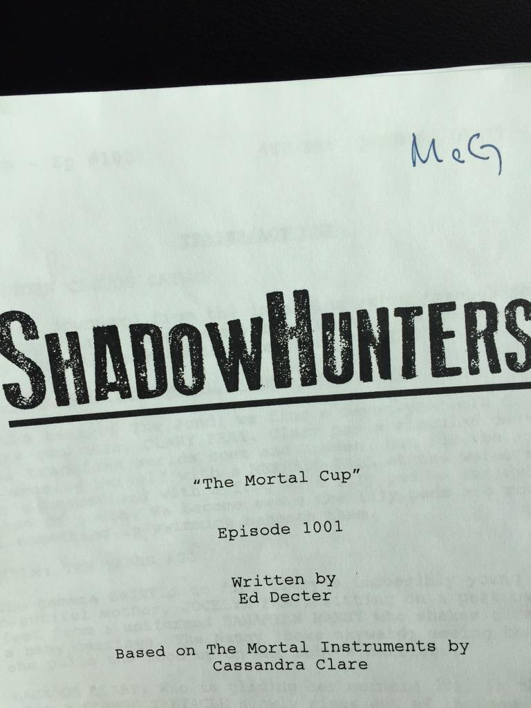 'Shadowhunters' pre-production