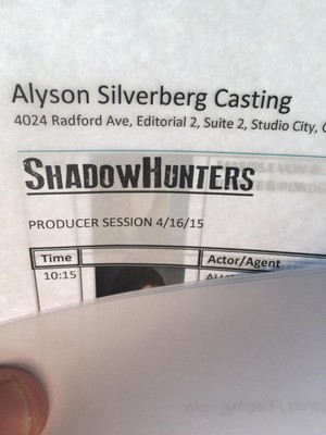 'Shadowhunters' pre-production