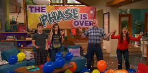 """The phase is over!!!"" XD"
