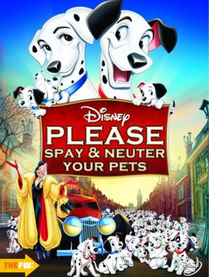 Walt ডিজনি Parody Posters - 101 Dalmatians
