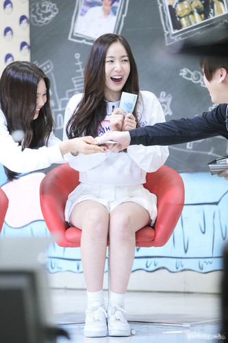 GFriend wallpaper probably with bare legs called 150121 GFriend SinB