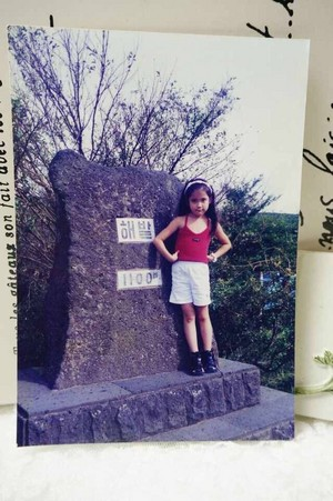 150327 IU‬ childhood foto I've never seen until today