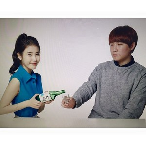 150331 ‎IU‬ posted some new Chamisul Soju photos on Instagram!