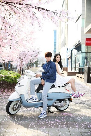 150407 ‪IU‬ and ‪Song Jae Rim‬ for 스베누 ‎SBENU‬ Facebook update
