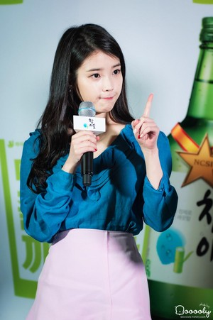 150410 IU at Hongdae Chamisul Event