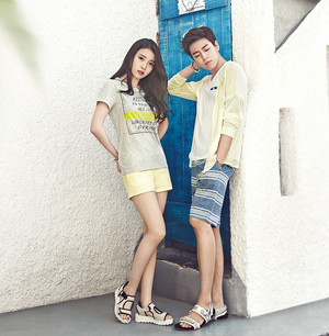 150417 ‎IU‬ and Hyun Woo for ‎UNIONBAY‬ Summer 2015 collection catalog update