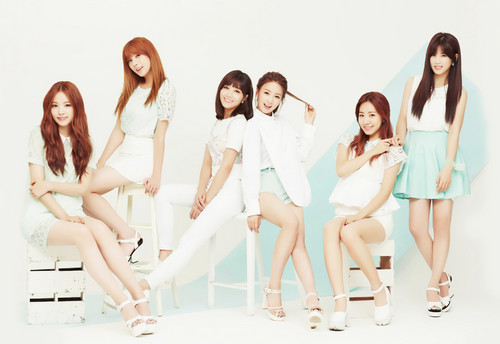 """Korea Girls Group A Pink wallpaper with a portrait called A-PINK """"LUV"""" Japanese version concept photo"""