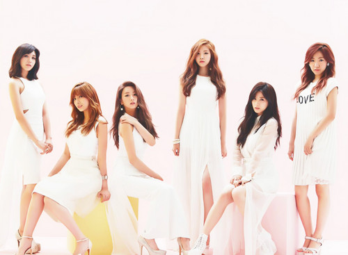 "Korea Girls Group A Pink wallpaper probably containing a portrait entitled A-PINK ""LUV"" Japanese version concept photo"