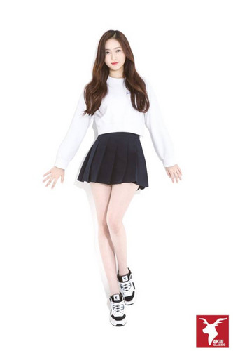 GFriend wallpaper probably with a chemise, a skirt, and a playsuit, salopette corta called AKIII Classic GFriend SinB