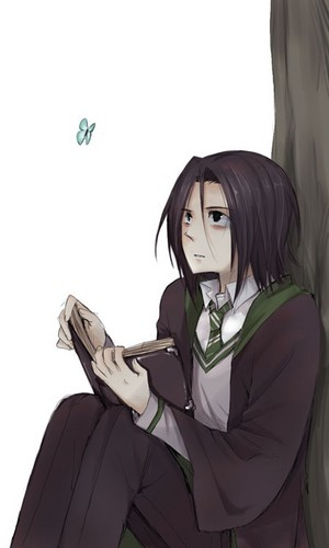 Harry Potter achtergrond titled Adorable Snape art